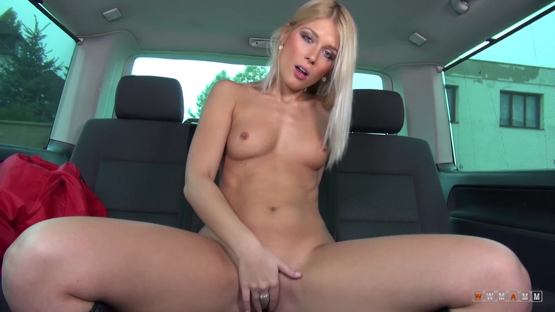 Pretty Pussy Blonde In Boots Strokes Her Throbbing Clit