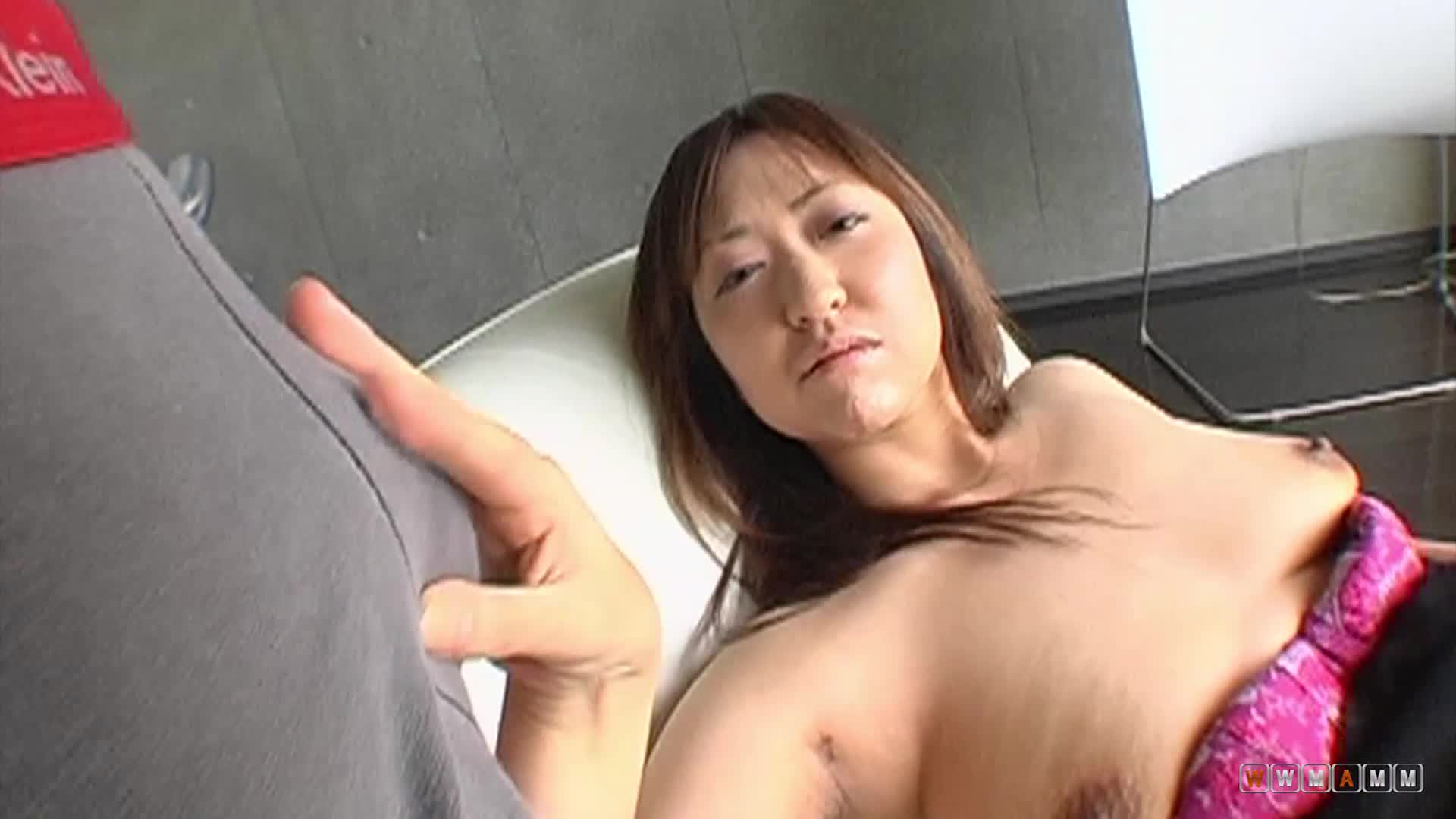 Busty Japanese Teen Has Hairy Pussy Played With Before Hard Fuck