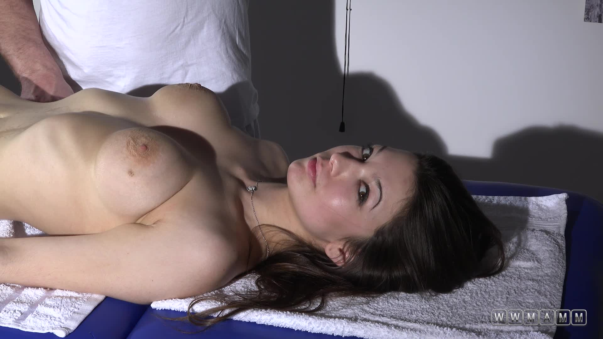 Naughty Masseur Put All Of His Attention To Denisa's Big Breasts