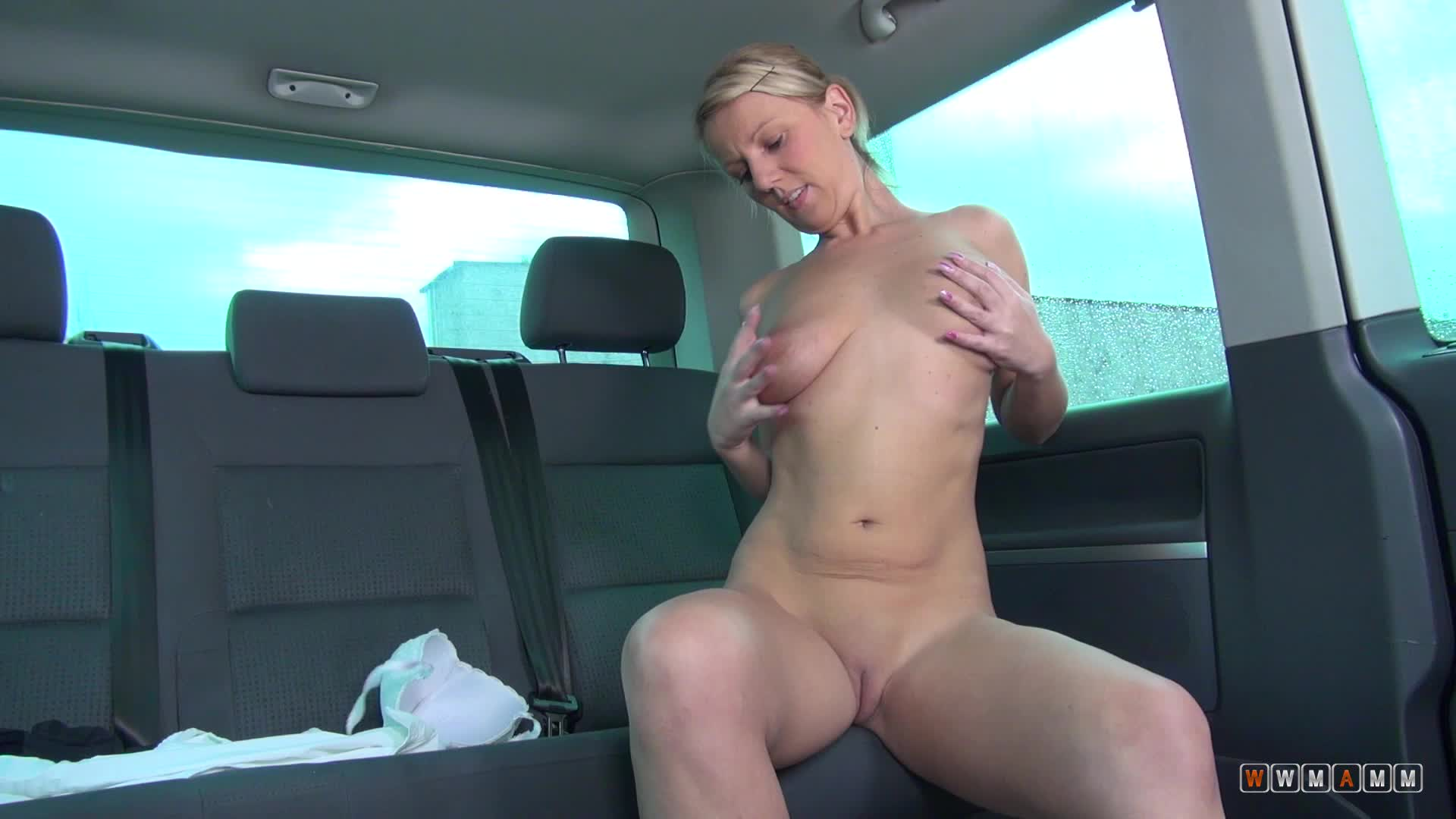 Lucy Is A Hot Blonde Milf With A Sweet Cameltoe Surprise