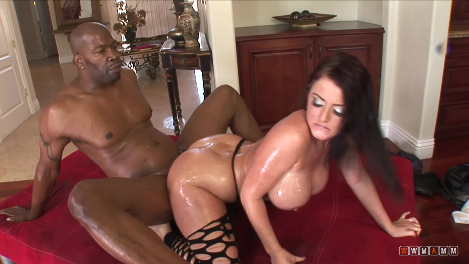 She Needed Some Oil On That Big Fat Cock To Be Able To Take It