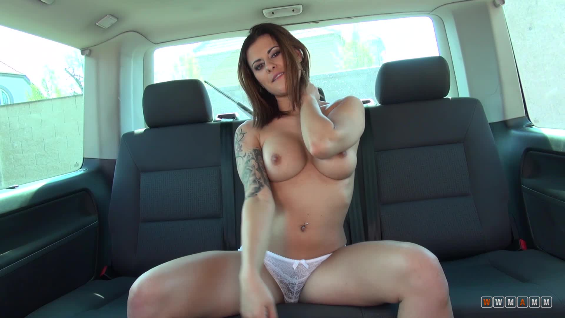 Curvy Milf Billie Star Teases In Back Seat With her Bulbous Booty