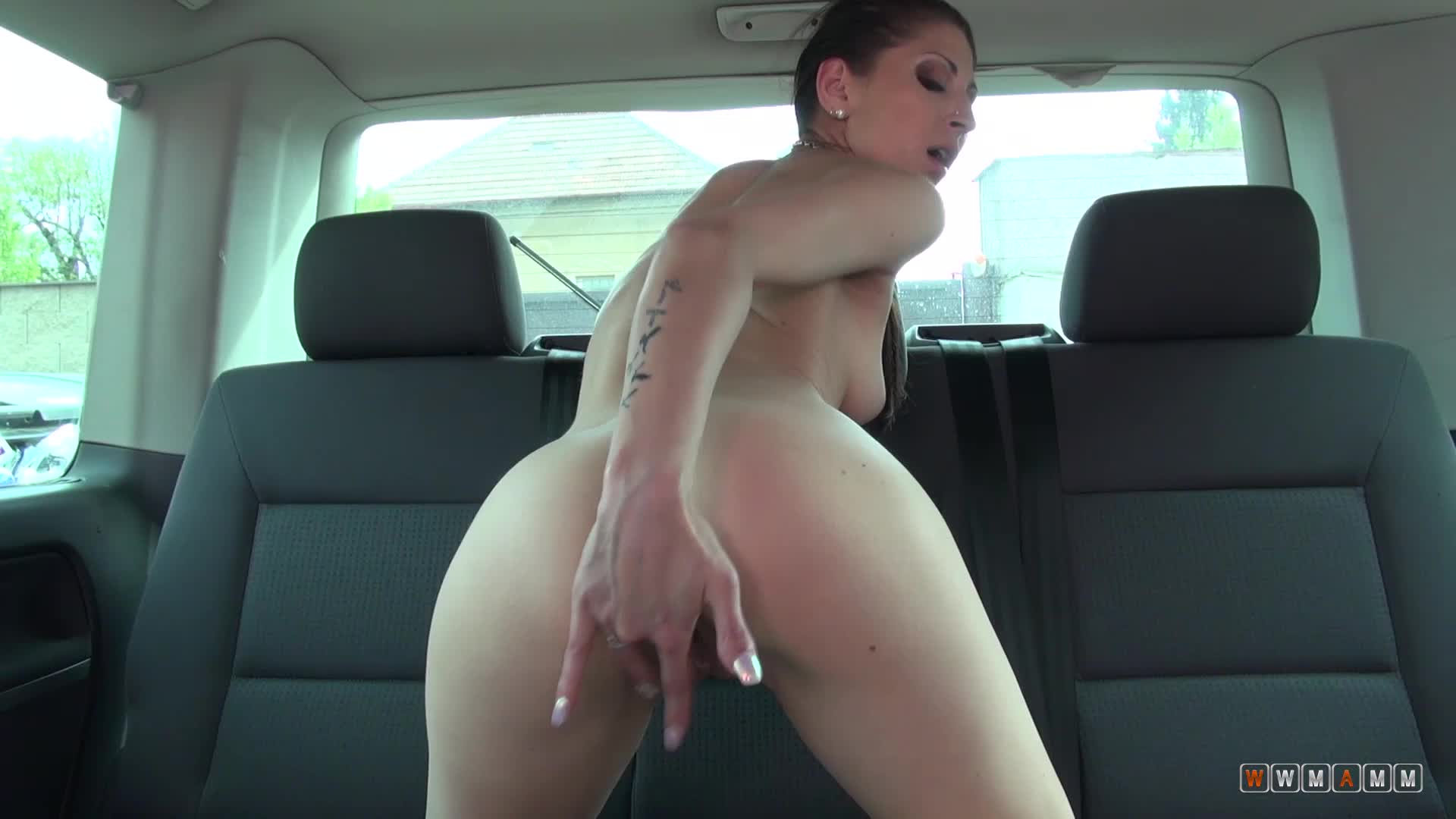 Slim Hottie Monica Fingers Her Soaking Wet Pussy From Behind