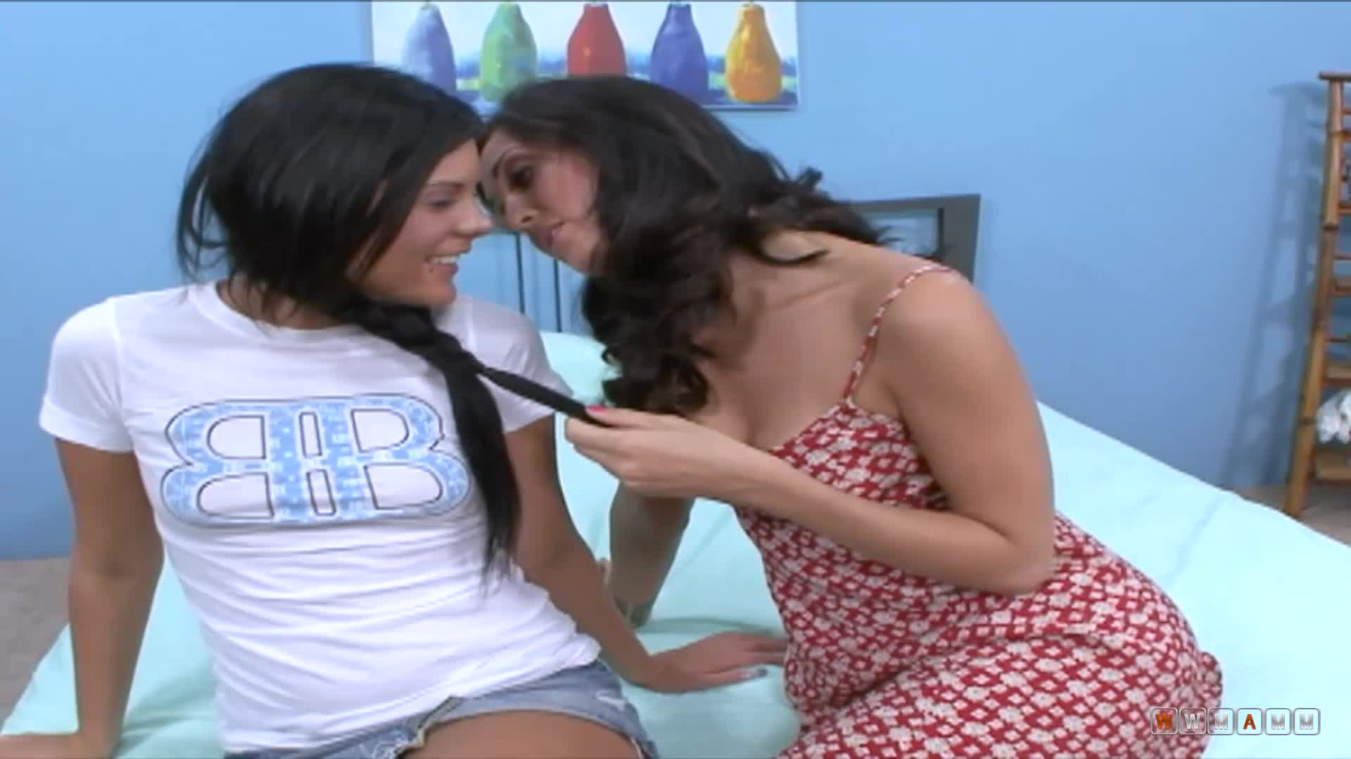 Hot ebony Madison Darver and Melissa Jacobs are having some fun