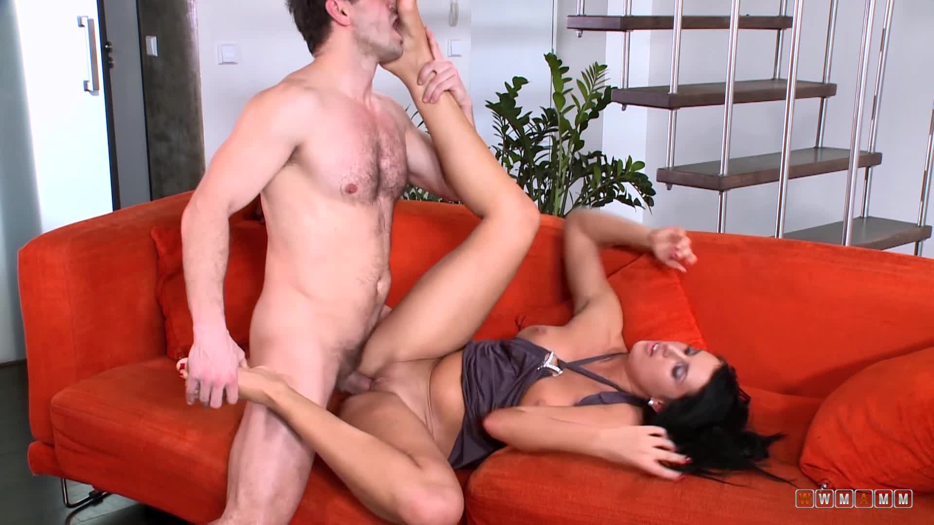 Melissa Likes The Hot Jizz Nowhere Else But Right On Her Feet