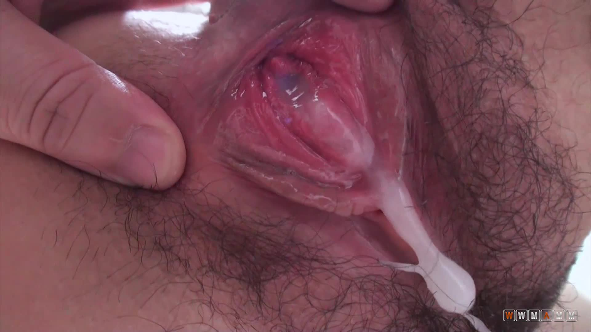 She Finaly Got Her Firs Creampie In Her Tiny Hairy Cunt