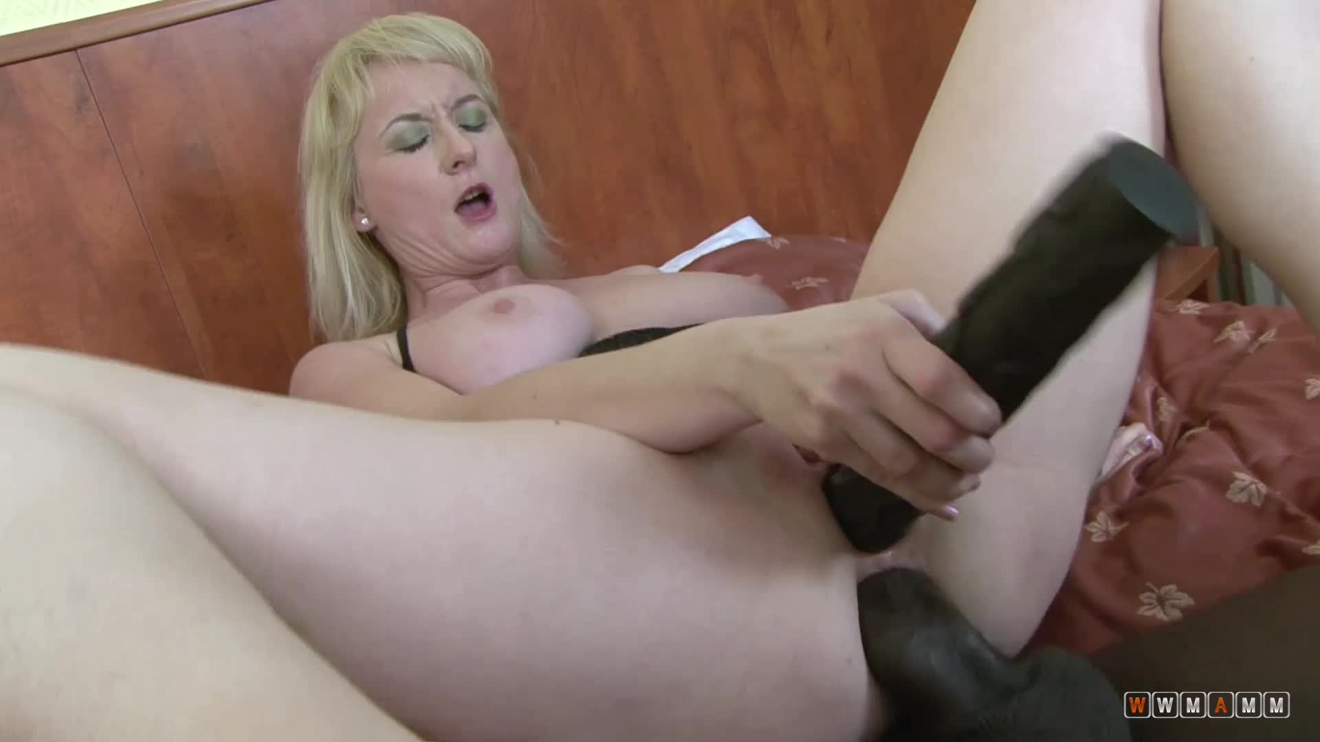 Sexy Blonde Mature Meets Younger African Guy For A Hard Pounding
