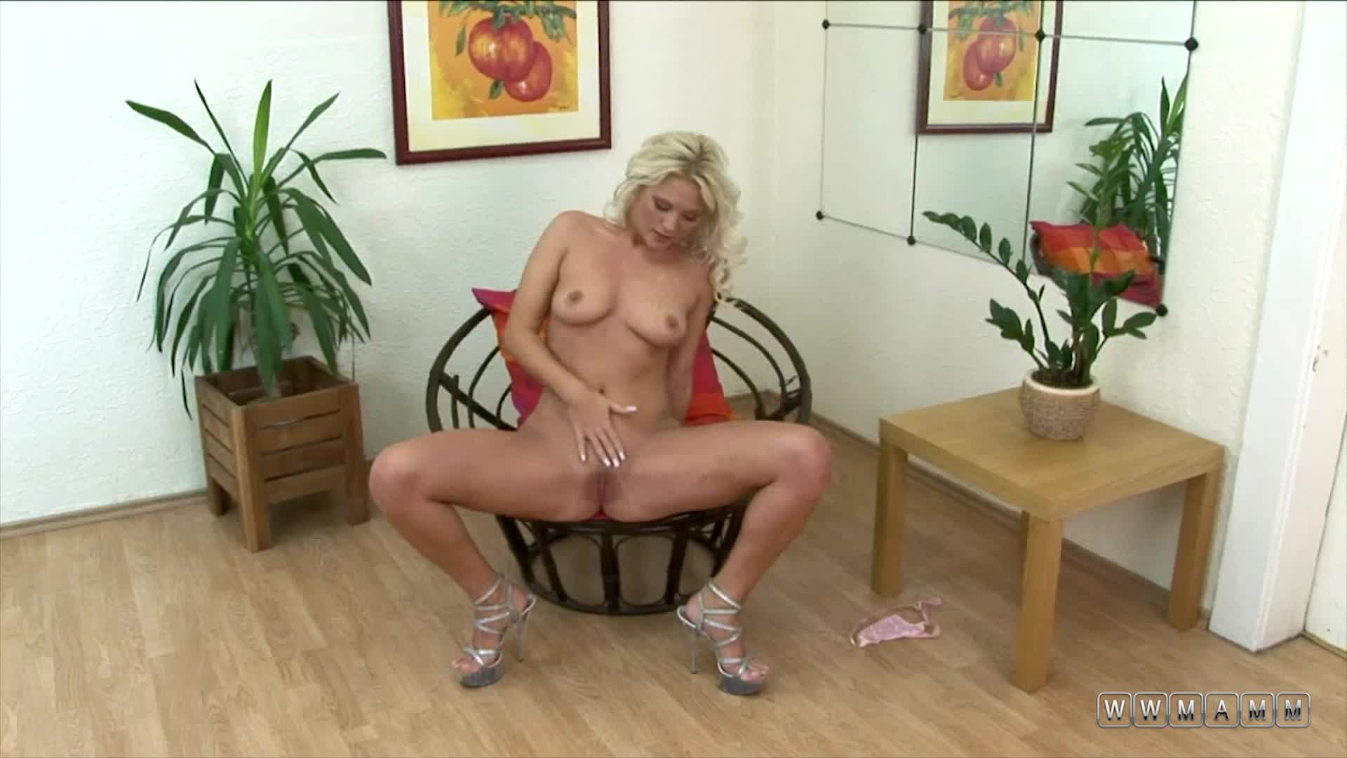 Kathy Anderson Wants To Keep Her High Heels While Masturbating