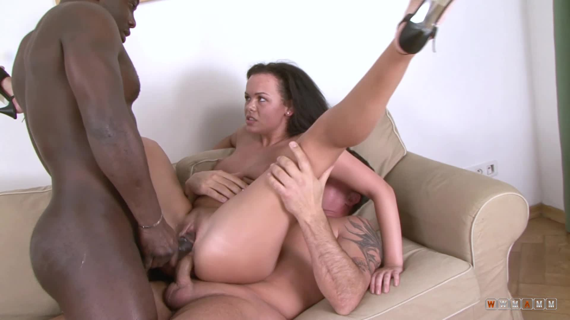 Her Nice Slippery Ass Got Destroyed By Two Very Hard Cocks