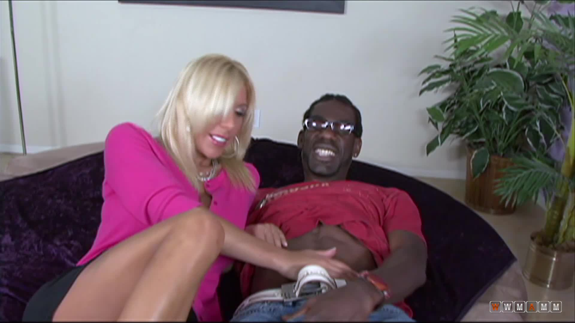 Horny Blonde Milf Misty Vonage Makes A Black Guy Really Happy