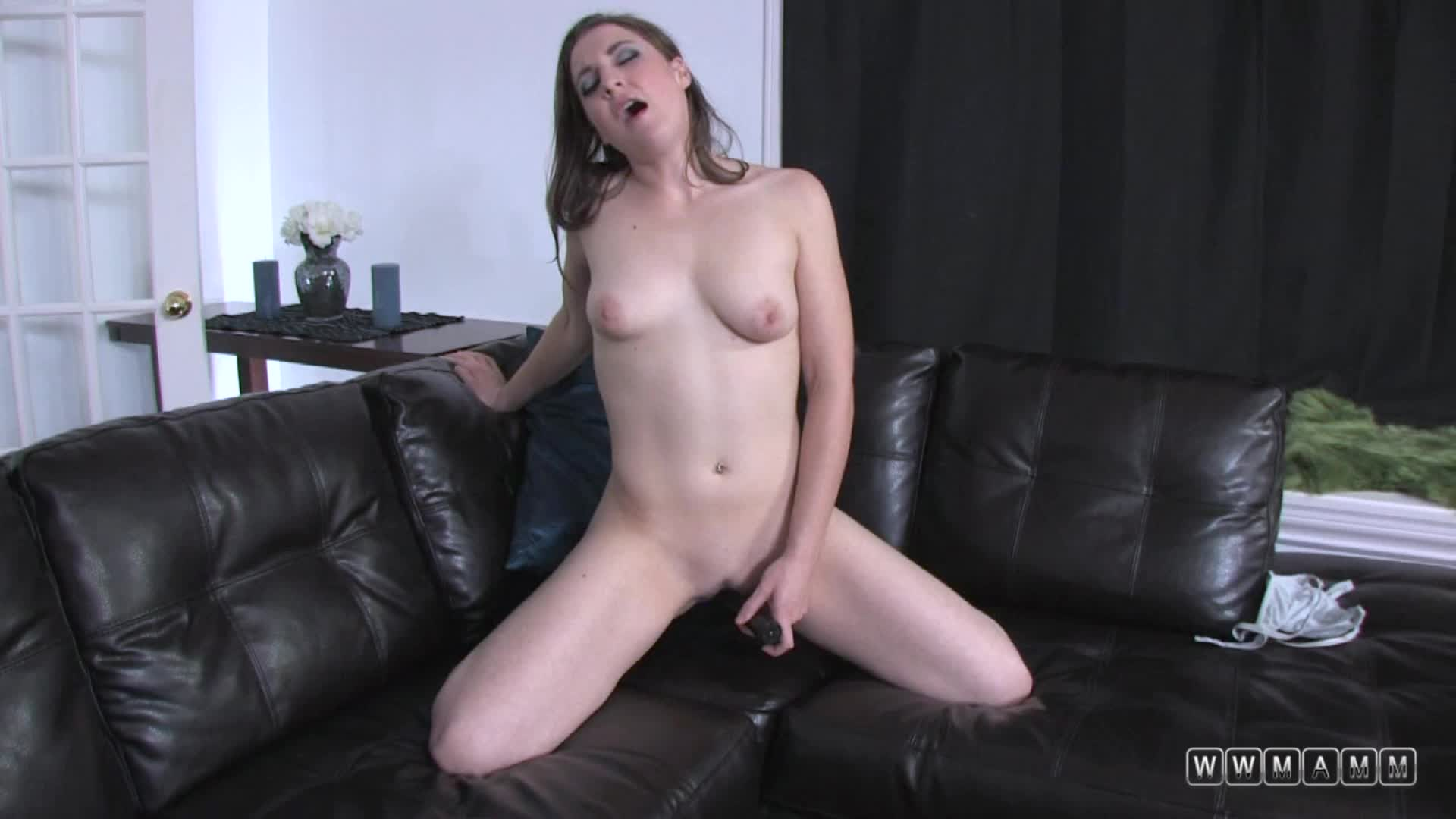Her Small Black Vibrator Turned Around This Boring Late Evening
