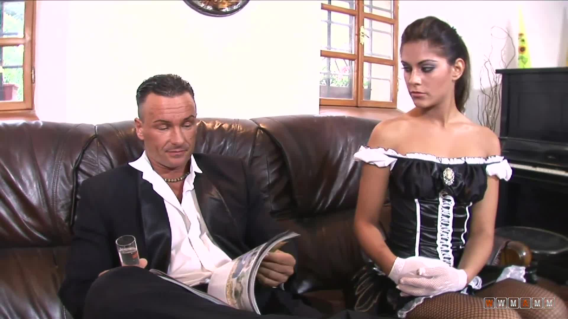 Maybe His Wife Doesn't Fuck Him Anymore But He Has The Sexy Maid