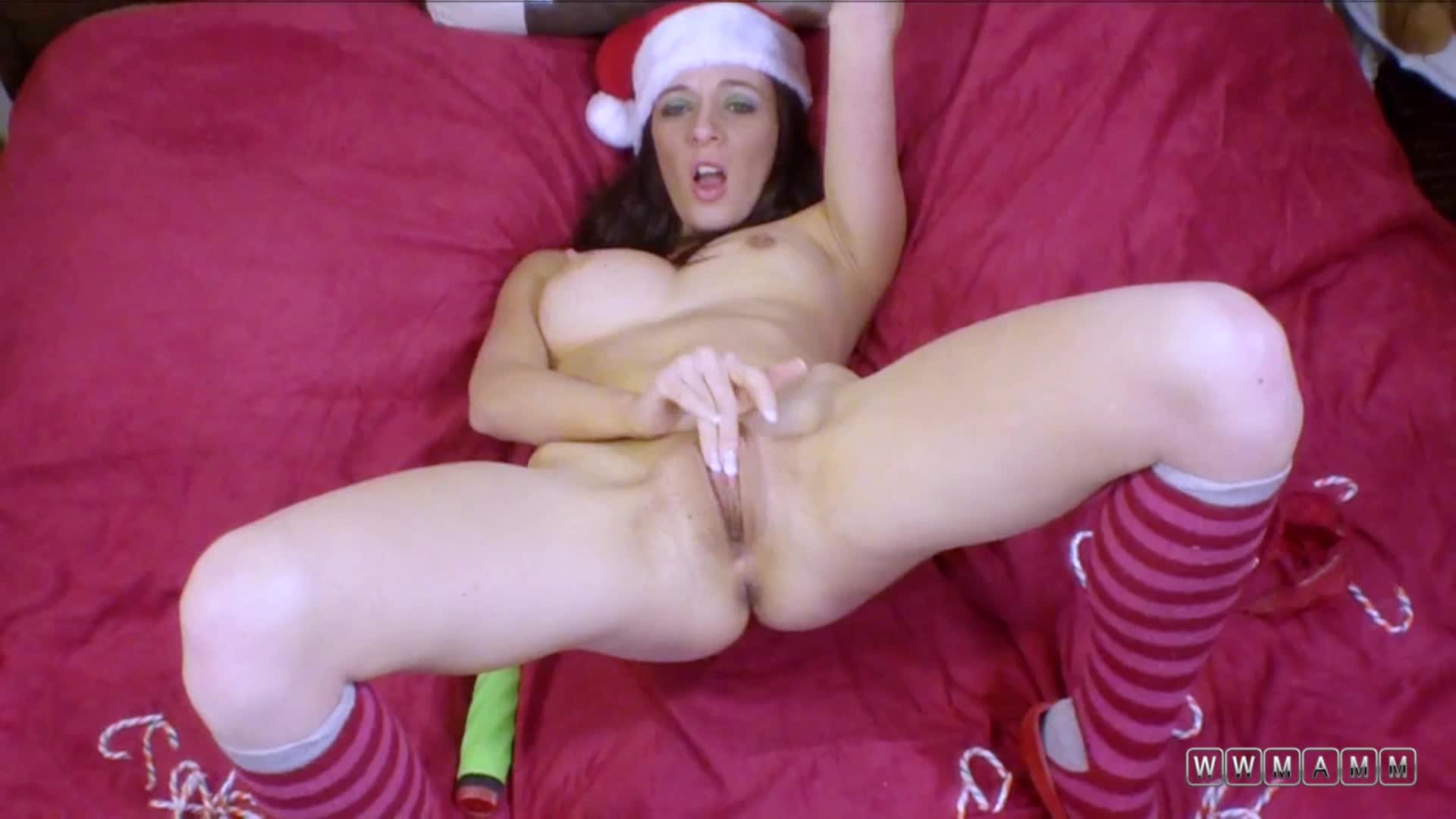Sandra Is Especially Horny For The Holidays So She Packs A Dildo