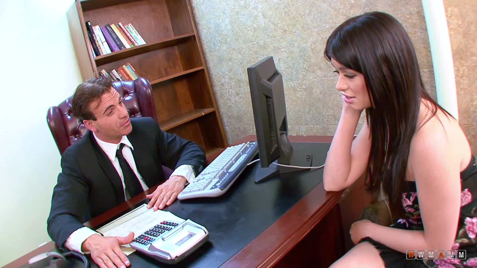 Angry Boss Forcing His Sexy Worker To Fuck Her For Stealing Money