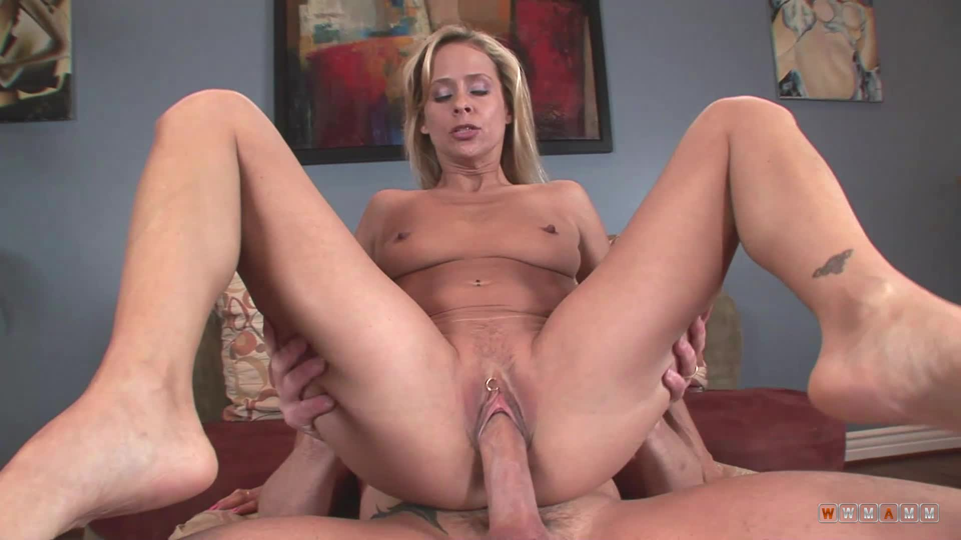Blonde Gets Fucked Hard In Her Pussy And Ass By A Hard Cock