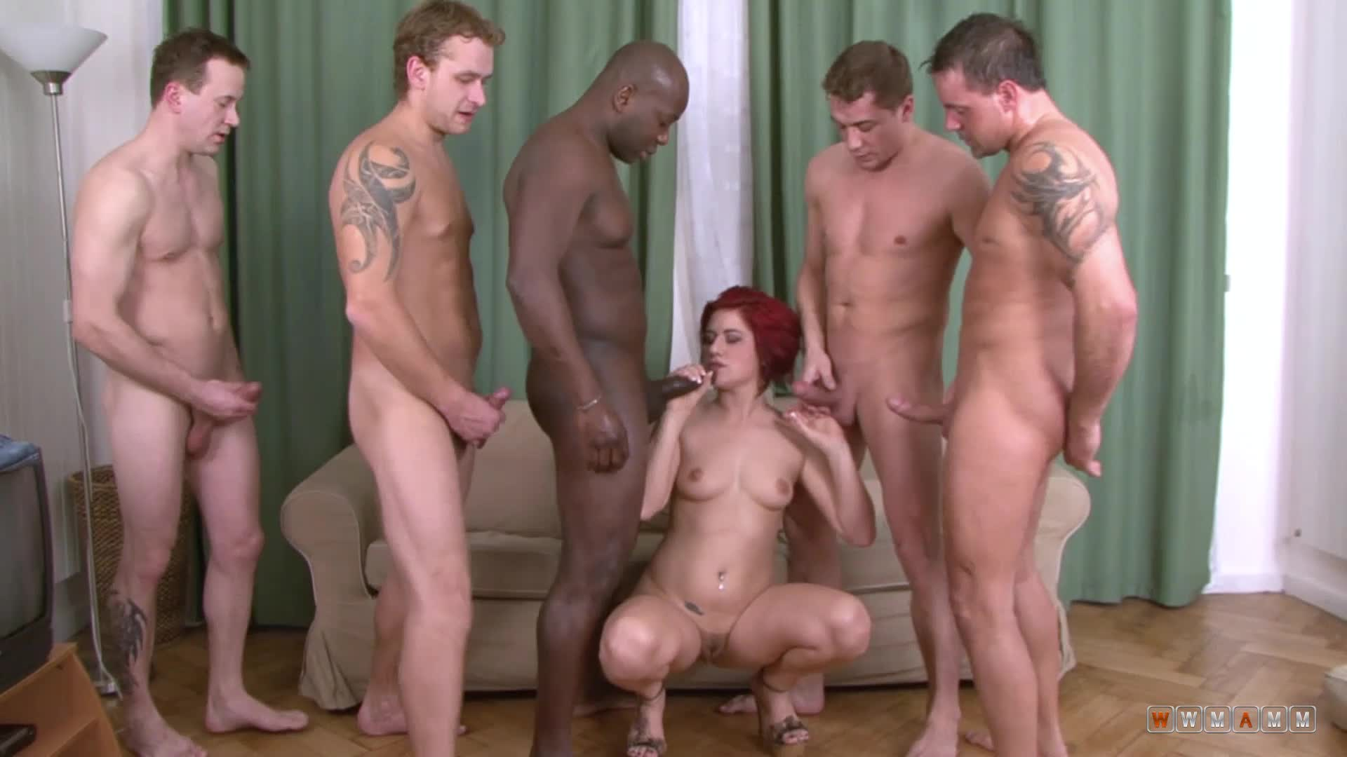 This Czech Redhead Is Not Afraid To Take Care Of Multiple Cocks