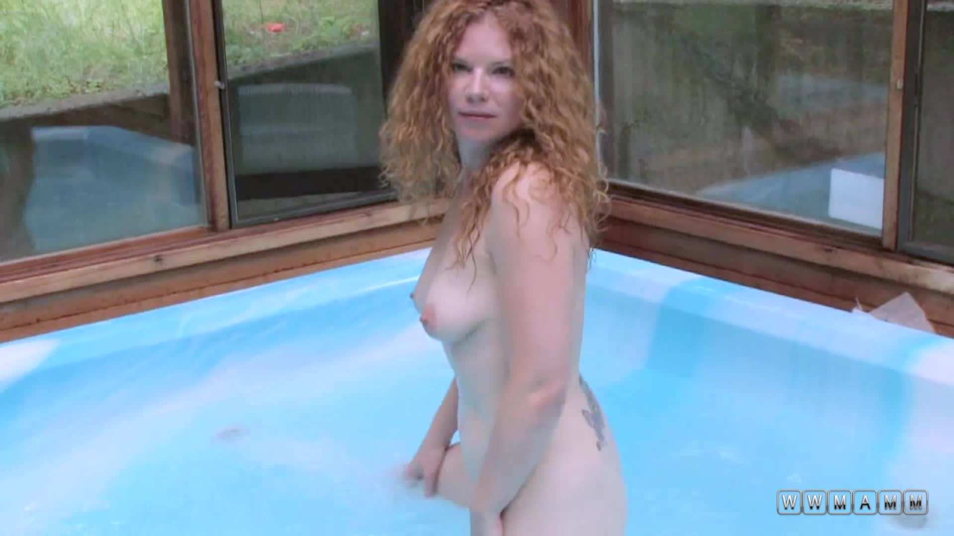 Horny Milf Gina Gets Naughty And Masturbates In The Hot Tub