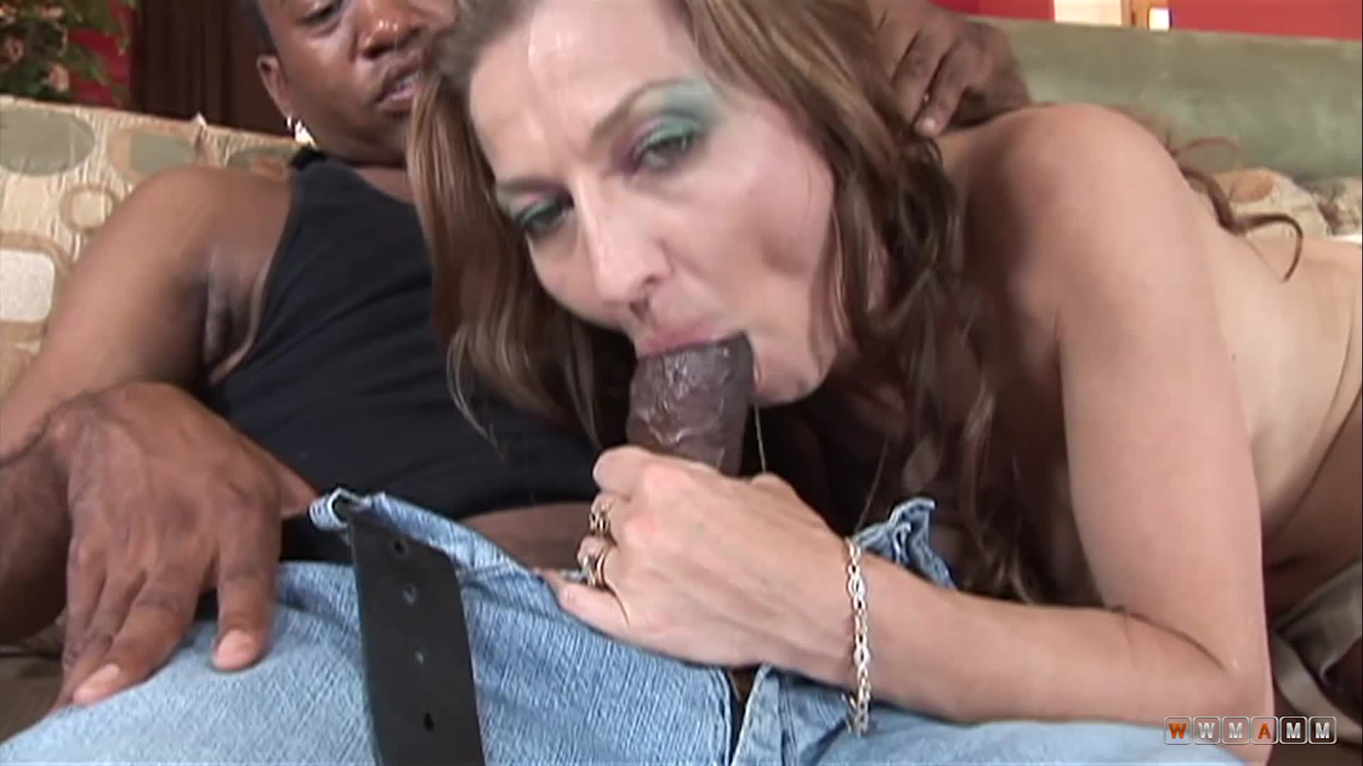 Slutty Milf Offers Her Wet Pussy To Fuck A Big Black Cock