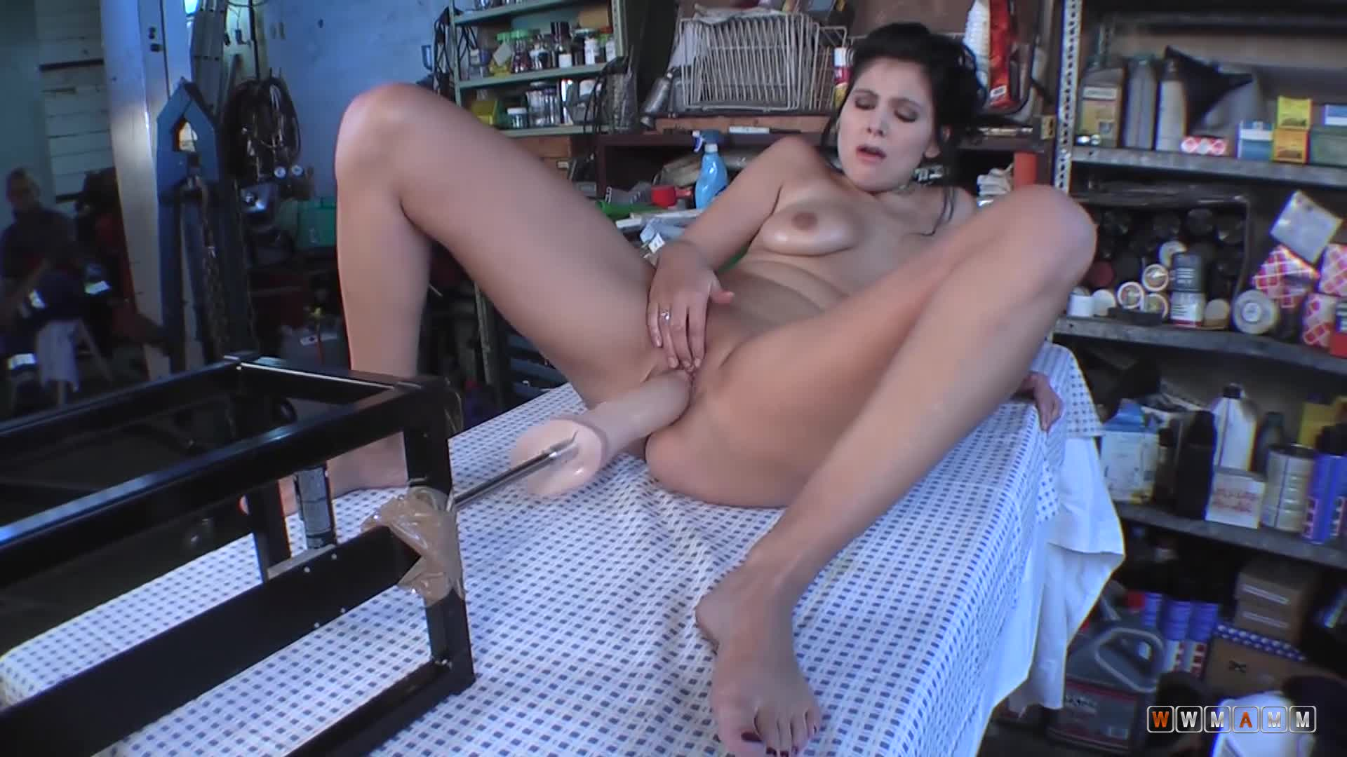 Horny Milf Asked To Try The Machine First Before Paying For It